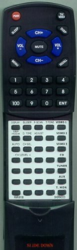 SHERWOOD リプレイスメント Remote Control for RMRV6108, RD6108, RD6500, RM105 「汎用品」(海外取寄せ品)