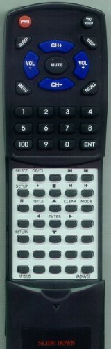 MAGNAVOX リプレイスメント Remote Control for NF102UD, MWC13D6, MWC20D6 「汎用品」(海外取寄せ品)