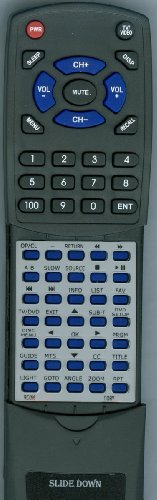 COBY リプレイスメント Remote Control for TFDVD3299, TFDVD3295, LCDVD2250, TFDVD2695 「汎用品」(海外取寄せ品)