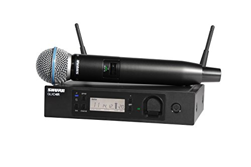 Shure GLXD24R/B58-Z2 Rechargeable Wireless System with BETA58A Vocal Microphone, ハーフ Rack 「汎用品」(海外取寄せ品)