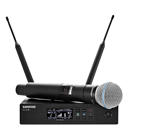 Shure QLXD24/B58 ハンドヘルド Wireless System with BETA 58A Vocal Microphone, H50 「汎用品」(海外取寄せ品)