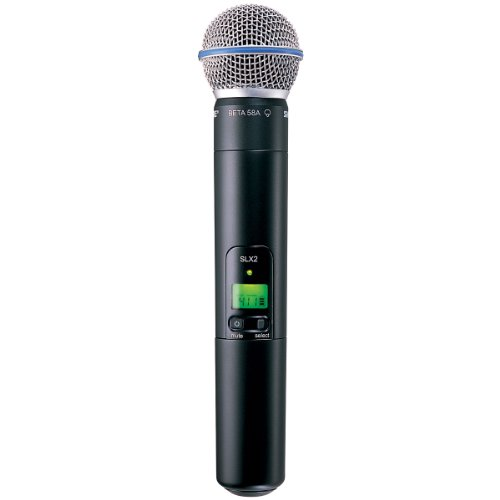 Shure SLX2/BETA58 ハンドヘルド Transmitter with BETA 58A Microphone, G4 「汎用品」(海外取寄せ品)