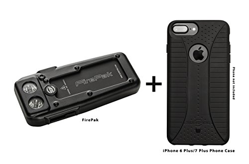SureFire Firepak ハイ Output イルミネーター & Smartphone Charger with iPhone ケース for 7 Plus, ブラック 「汎用品」(海外取寄せ品)