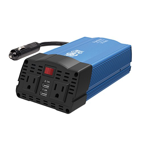 Tripp ライト 375W Compact Portable Car Power Inverter 2 Outlet 12V DC to 120V AC w/ 2-Port USB Charging Ports (PV375USB) 「汎用品」(海外取寄せ品)