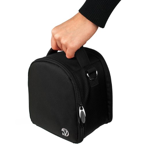 VanGoddy Laurel オニキス ブラック Carrying ケース Bag for Nikon D Series / DL Series / Compact to Advanced デジタル and SLR Cameras 「汎用品」(海外取寄せ品)