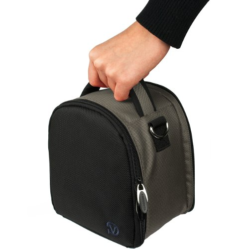 VanGoddy Laurel スチール グレー Carrying ケース Bag for Olympus OM-D Series / ペン Series / Compact to Advanced Cameras 「汎用品」(海外取寄せ品)