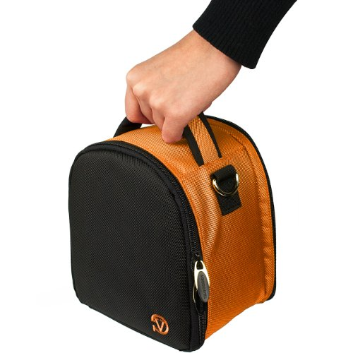 VanGoddy Laurel タイタン Titan オレンジ Carrying ケース Bag for Canon EOS / Rebel / Compact to Advanced DSLR Cameras 「汎用品」(海外取寄せ品)