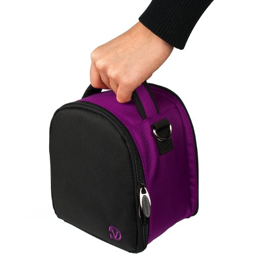 VanGoddy Laurel プラム パープル Carrying ケース Bag for Panasonic LUMIX Series Cameras 「汎用品」(海外取寄せ品)