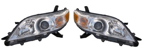 Toyota シエナ BASE,LE XLE,LIMITED MODEL 11-12 Headlight(HALOGEN) ペア (海外取寄せ品)