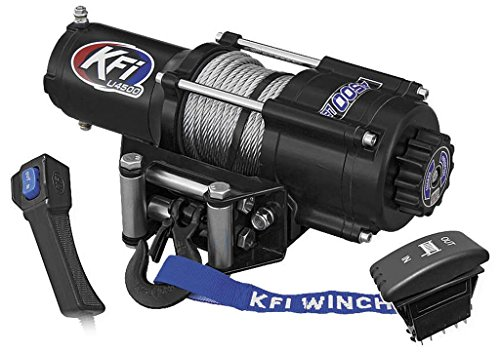New KFI 4500 lb UTV Winch & Model Specific Mounting Bracket - 2016-2017 Polaris RZR 4 Turbo (海外取寄せ品)