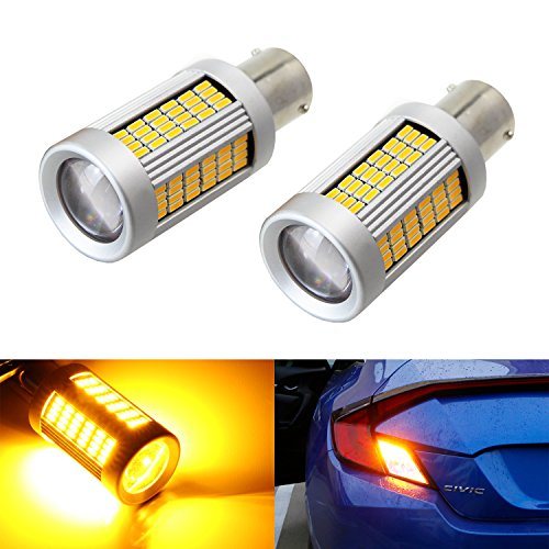 iJDMTOY (2) No Hyper フラッシュ 25W ハイ Power アンバー 1156 CAN-bus LED リプレイスメント Bulbs For Car フロント or Rear Turn Signal ライト (No Load Resistor Required) (海外取寄せ品)