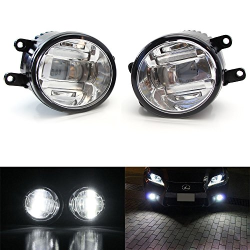 iJDMTOY (2) OEM Spec Xenon ホワイト ハイ Power CREE XB-D LED Projector Fog ライト セット For Lexus IS GS CT LX RX Toyota Camry Venza Prius シエナ, etc (海外取寄せ品)