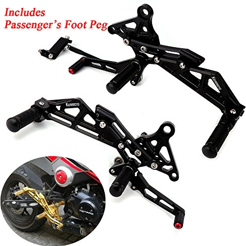 Grom Rearsets with Passenger's Foot pegs アジャスタブル Rear セット Foot Rest for Honda Grom MSX 125 2013 2014 2015 (海外取寄せ品)