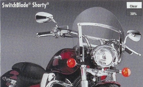 National Cycle SwitchBlade Shorty ティント Windshield N21706 (海外取寄せ品)