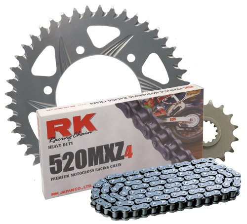 RK レーシング チェーン 3012-068Z シルバー Aluminum Rear Sprocket and 520MXZ4 チェーン レース キット (海外取寄せ品)