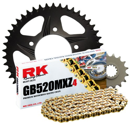 RK レーシング チェーン 1052-928ZK ブラック Aluminum Rear Sprocket and GB520MXZ4 チェーン レース キット (海外取寄せ品)