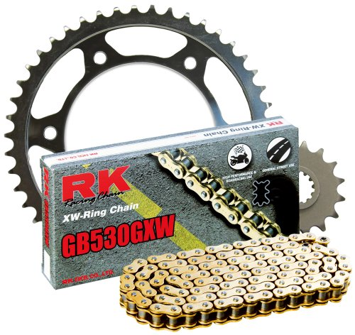 RK レーシング チェーン 2127-000WG スチール Rear Sprocket and GB530GXW チェーン 20,000 Mile キット (海外取寄せ品)
