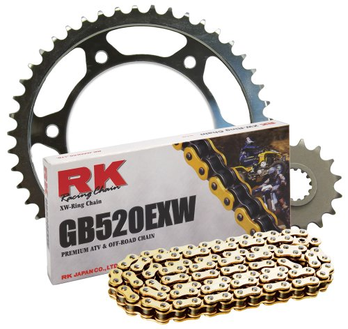 RK レーシング チェーン 4122-998SG スチール Rear Sprocket and GB520EXW チェーン スチール レース キット (海外取寄せ品)