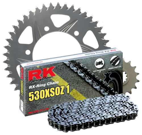 RK レーシング チェーン 3116-938R シルバー Aluminum Rear Sprocket and 530XSOZ1 チェーン 520 レース Conversion キット (海外取寄せ品)