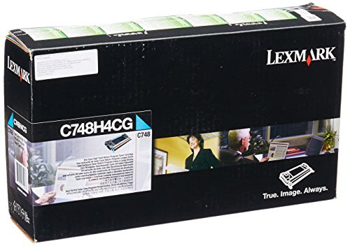 Lexmark ハイ Yield シアン Return Program Toner Cartridge for US Government, 10000 Yield (C748H4CG) (海外取寄せ品)