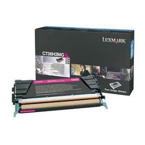 Lexmark ハイ Yield Magenta Toner Cartridge, 10000 Yield (C736H2MG) (海外取寄せ品)