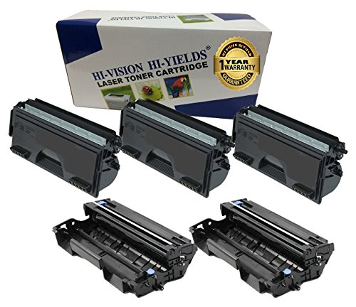 HI-ビジョン HI-YIELDS R Compatible Toner Cartridge リプレイスメント for Brother TN560 + Compatible Drum Unit リプレイスメント for Brother DR500 (3 Toner, 2 Drum, 5-Pack) (海外取寄せ品)