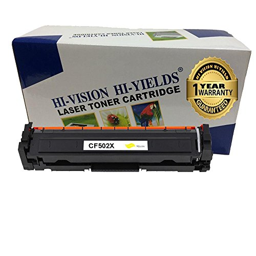 HI-ビジョン HI-YIELDS Compatible LaserJet CF502X イエロー toner cartridge HP202X Toner ハイ Yield 2,500 ページ Toner Cartridge for HP カラー LaserJet プロ M254dw M254nw MFP M280nw M281fdn M281fdw (1-Yellow) (海外取寄せ品)