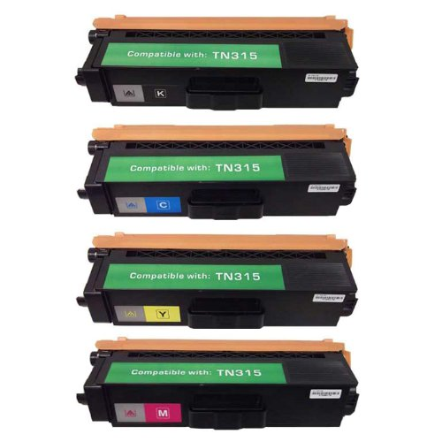 HI-ビジョン HI-YIELDS Compatible Toner Cartridge リプレイスメント for Brother TN315 (1 ブラック, 1 シアン, 1 イエロー, 1 Magenta, 4-Pack) (海外取寄せ品)