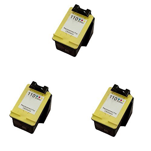 3 パック Remanufactured カラー HP 110 HP110 CB304 CB-304 Tri-カラー Printer Ink Cartridge for PhotoSmart Printers A310 A311 A314 「汎用品」(海外取寄せ品)
