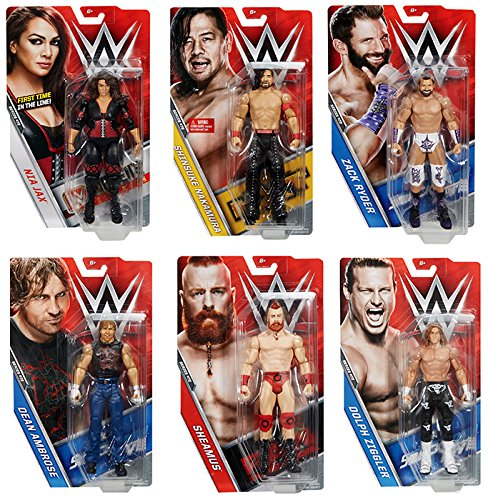 WWE Series 72 - Complete セット of 6 Mattel Toy Wrestling アクション Figures (海外取寄せ品)