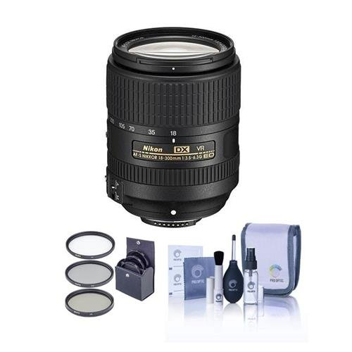 Nikon 18-300mm f/3.5-6.3G ED IF AF-S DX NIKKOR VR レンズ - U.S.A. - バンドル With 67mm フィルタ キット, Cleaning キット (海外取寄せ品)