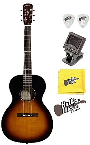 Alvarez Delta00 TSB Parlor サイズ Acoustic Guitar w/Clip-on Tuner and More (海外取寄せ品)