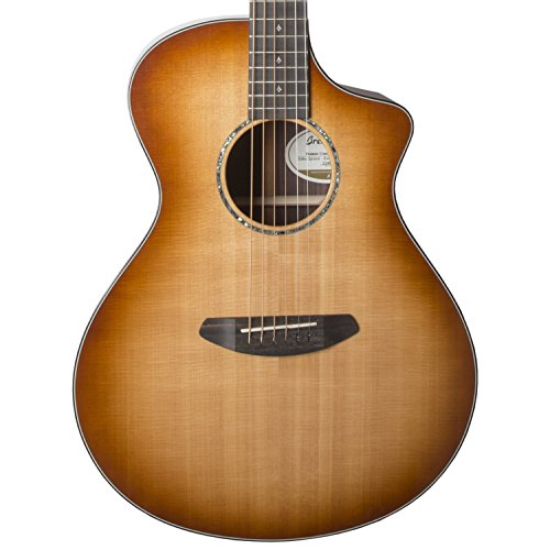 Breedlove プレミア Concert CE Sitka-Rosewood Acoustic-Electric Guitar with Deluxe Hardshell ケース, コッパー Burst (海外取寄せ品)