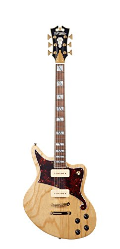 D'ANGELICO DADBEDNATGS9 Deluxe Bedford Electric Guitar with Seymour Duncan P-90 Pickups - ナチュラル Swamp Ash (海外取寄せ品)