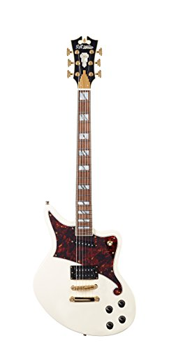 D'ANGELICO DADBEDSVWGS Deluxe Bedford Electric Guitar - ヴィンテージ ホワイト (海外取寄せ品)