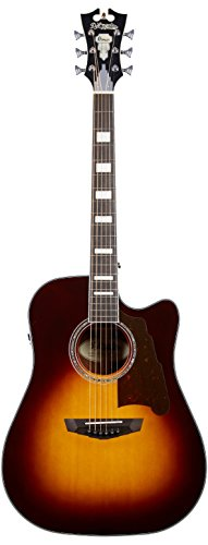 D'ANGELICO 6 ストリング Acoustic-Electric Guitar (DAPD500VSBCPS) (海外取寄せ品)