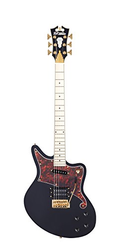 D'ANGELICO 6 ストリング ソリッド-Body Electric Guitar (DADBEDSBKMGTR) (海外取寄せ品)