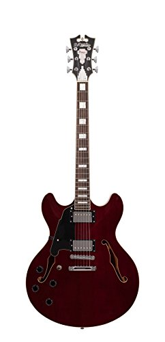 D'ANGELICO DAPDCTWNCSCBL プレミア DC Semi-ホロー 左利き Electric Guitar with ストップ-Bar Tailpiece - トランス ワイン (海外取寄せ品)