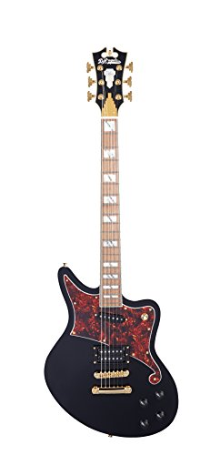 D'ANGELICO 6 ストリング ソリッド-Body Electric Guitar (DADBEDSBKGS) (海外取寄せ品)