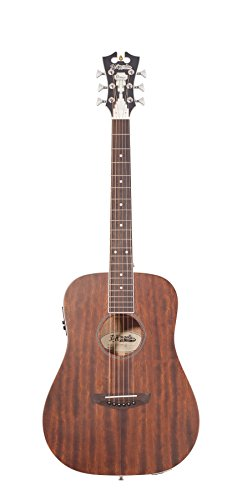 D'ANGELICO 6 ストリング Acoustic-Electric Guitar, ナチュラル Mahogany (DAPMIMNACCH) (海外取寄せ品)