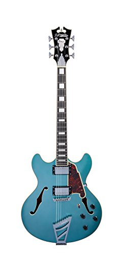 D'ANGELICO DAPDCOTCTCB プレミア DC Semi-ホロー Electric Guitar with Stairstep Tailpiece - オーシャン ターコイズ (海外取寄せ品)