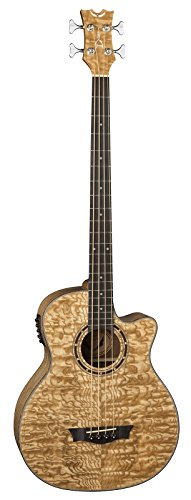 ディーン EQABA GN Exotica Quilt Ash Acoustic/Electric Bass Guitar with Aphex, グロス ナチュラル (海外取寄せ品)