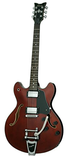 Schecter Corsair with Bigsby Electric Guitar (Gloss Walnut) (海外取寄せ品)
