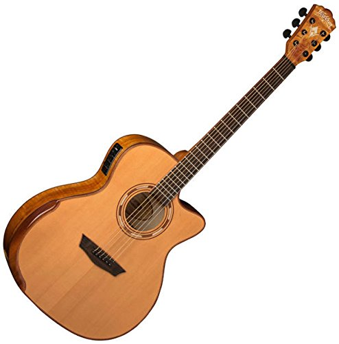 2015 Washburn WCG66SCE グランド Auditorium Acoustic/Electric Guitar (海外取寄せ品)