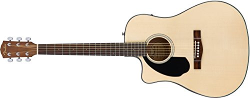 Fender CD-60SCE Left ハンド Acoustic-Electric Guitar - Dreadnaught Body スタイル - ナチュラル Finish (海外取寄せ品)