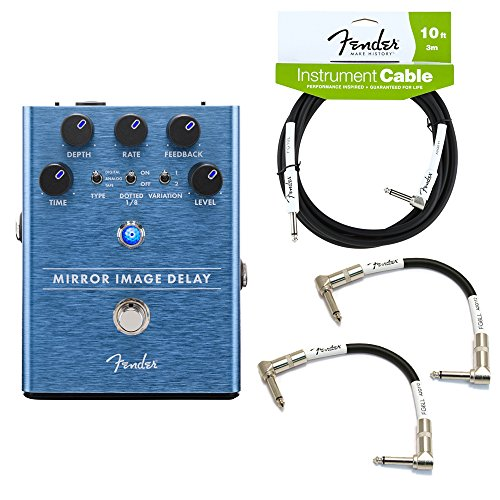 Fender ミラー イメージ Delay Guitar Pedal with ケーブル (Essentials Bundle) (海外取寄せ品)