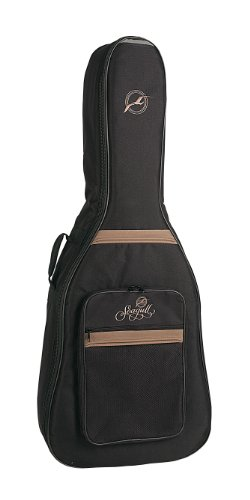 Godin Guitars 034826 Seagull Dreadnaught Guitar Gig Bag, ブラック with ロゴ (海外取寄せ品)