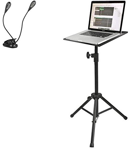 Quik Lok マルチ-Function アジャスタブル Tripod Stand For Laptops, Tablets, ミュージック Sheets, MIDI Devices, スモール Mixers w/ Ivation ミュージック Clip Light (海外取寄せ品)