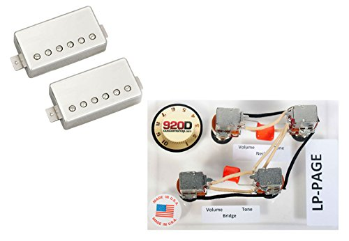 Duncan ホット Rodded Humbucker Pickup セット, Nickel + レス Paul Wiring Harness (海外取寄せ品)