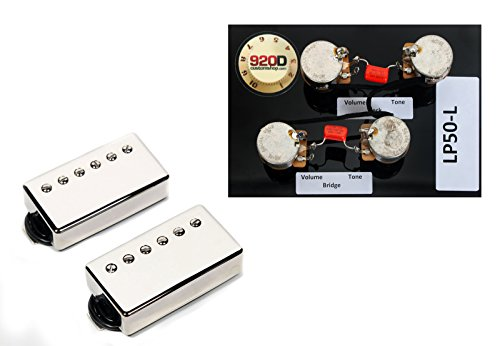 Duncan SH-18 Whole Lotta Humbucker セット, Nickel + Free LP Wiring Harness ロング (海外取寄せ品)